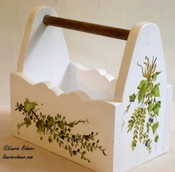 Ivy Ferns Painted Planter Tote