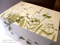 Large Painted Wood Box Herbs Garden Flowers