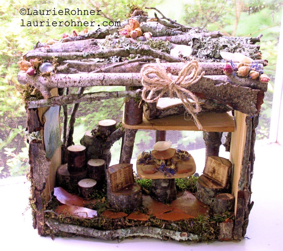 Handmade sculpted fairy house apartment
