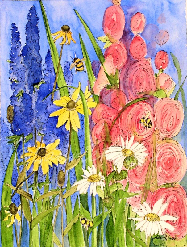 Watercolor Mixed Media by Laurie Rohner
