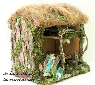 Thatched Cottage Fairy House