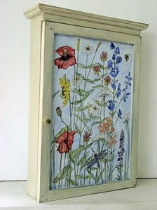 painted furniture garden flowers