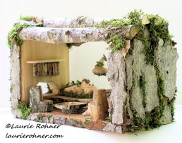 Woodland Moss Fairy House