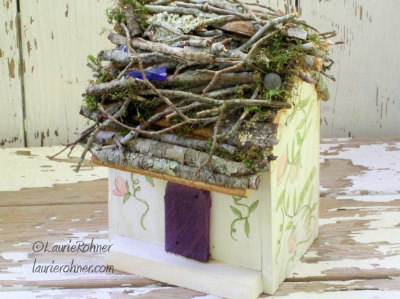 Sweet Pea Fairy House Bird House