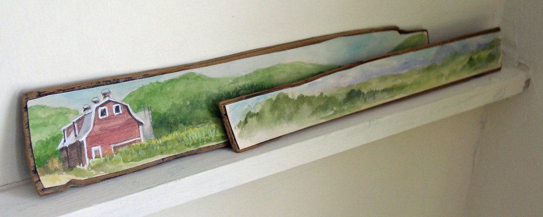 Landscapes on Wood