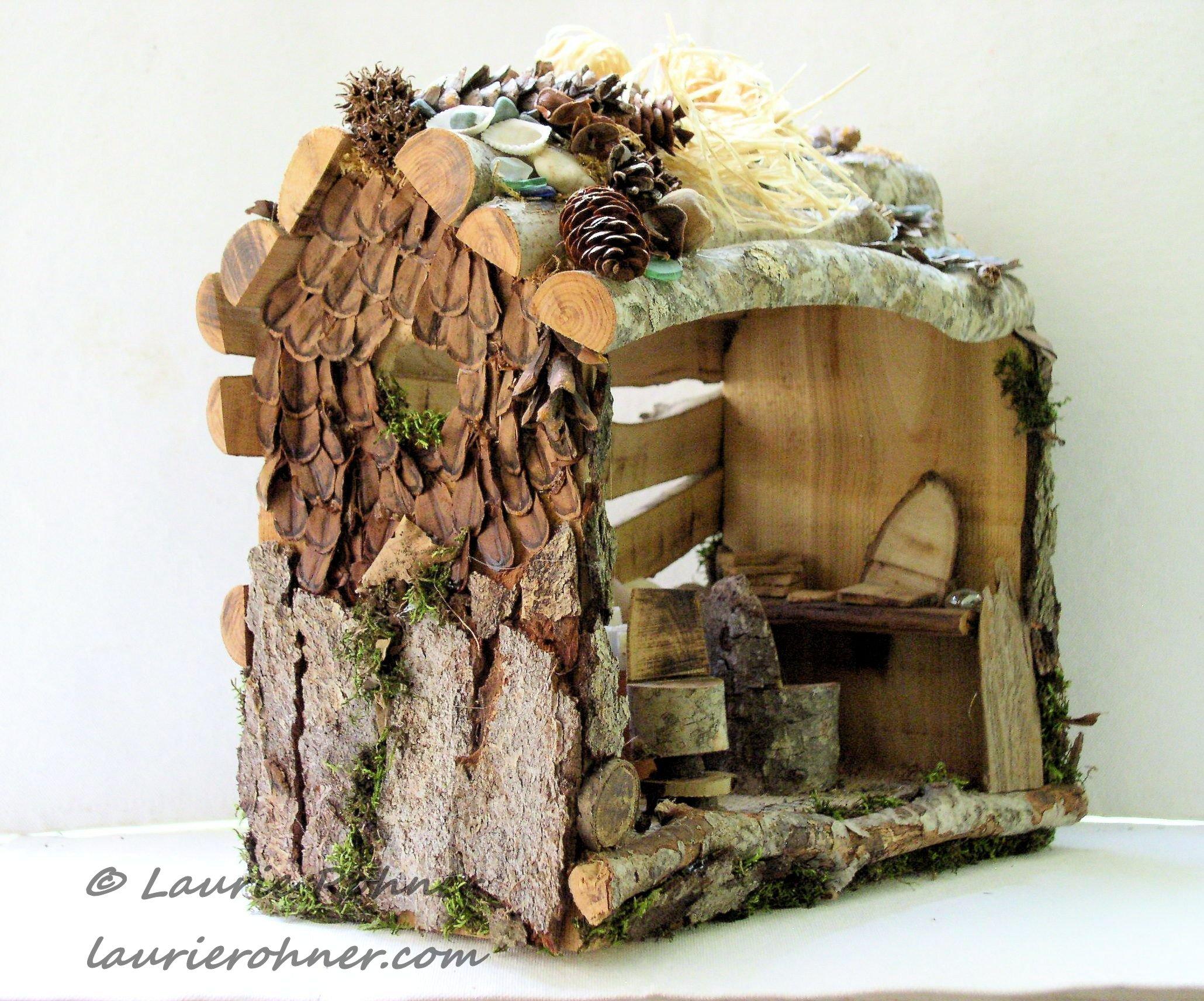 Woodland Fairy House Art Studio With Easel Fairy Art